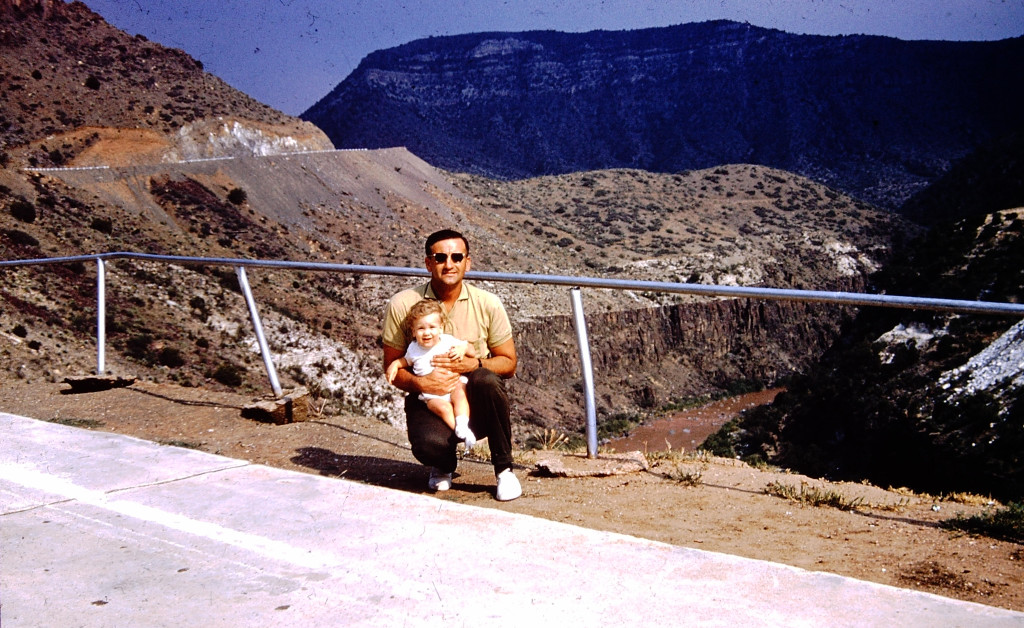 With my father Frank - Arizona, 1961