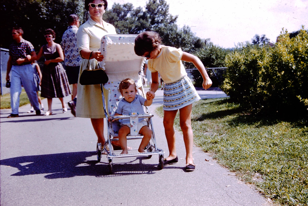 Going for a stroll with my mother Katherine and my sister Beth, 1961
