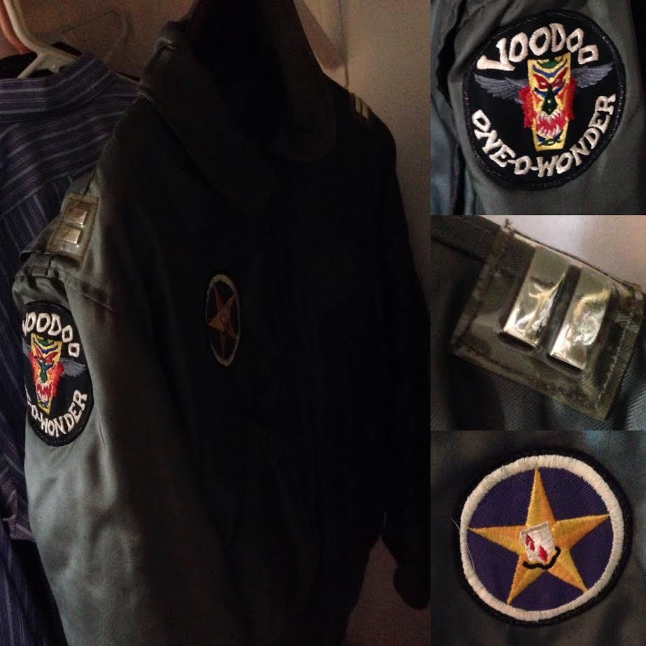 36 years later, Greg's flight jacket hangs in my closet